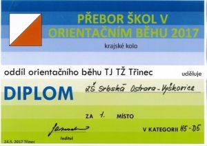 Diplom orientační běh