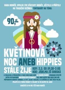 Hippie_skolni ples - plakat